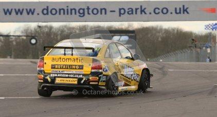 © Octane Photographic Ltd. BTCC - Round Two - Donington Park - Race 1. Sunday 15th April 2012. Dave Newsham, Vauxhall Vectra, Team ES Racing.com. Digital ref : 0295lw7d4003