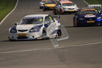 © Octane Photographic Ltd. BTCC - Round Two - Donington Park - Race 2. Sunday 15th April 2012. The grid warm their tyres on the formation lap for race 2. Digital ref : 0296lw7d4341