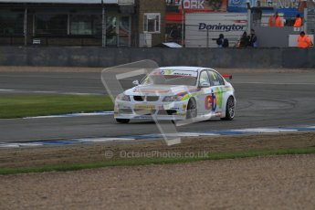© Octane Photographic Ltd. BTCC - Round Two - Donington Park - Race 2. Sunday 15th April 2012. Tom Onslow-Cole at speed around Redgate. Digital ref : 0296lw7d4930