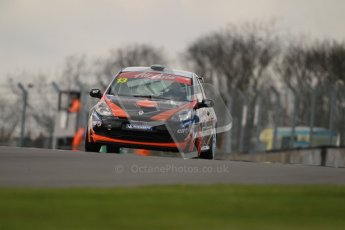 © Octane Photographic Ltd. BTCC - Round Two - Donington Park. AirAsia Renault UK Clio Cup Championship practice. Saturday 14th April 2012. Tautvydas Barstys, Juta Racing. Digital ref : 0292lw1d6532