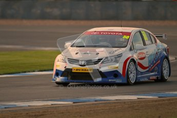 © Octane Photographic Ltd. BTCC - Round Two - Donington Park. Free Practice. Saturday 14th April 2012. Tony Hughes, Toyota Avensis, Speedworks Motorsport. Digital ref : 0291lw1d5992