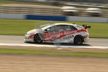 © Octane Photographic Ltd. BTCC - Round Two - Donington Park. Free Practice. Saturday 14th April 2012. Matt Neal, Honda Civic, Honda Yuasa Racing Team. Digital ref : 0291lw7d2902
