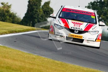 © Octane Photographic Ltd./Chris Enion. British Touring Car Championship – Round 6, Snetterton, Saturday 11th August 2012. Free Practice 1. Gordon Shedden - Honda Yuasa Racing Team, Honda Civic. Digital Ref : 0452ce1d0196