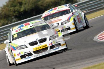 © Octane Photographic Ltd./Chris Enion. British Touring Car Championship – Round 6, Snetterton, Sunday 12th August 2012. Race 1. Tom Onslow-Cole and Robert Collard - eBay Motors, BMW 320si E90. Digital Ref : 0455ce1d0122