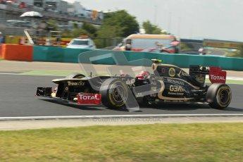 © 2012 Octane Photographic Ltd. Hungarian GP Hungaroring - Saturday 28th July 2012 - F1 Qualifying. Lotus E20 - Romain Grosjean. Digital Ref : 0430lw1d7223