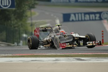 © 2012 Octane Photographic Ltd. Hungarian GP Hungaroring - Friday 27th July 2012 - F1 Practice 2. Lotus E20 - Romain Grosjean. Digital Ref : 0426lw1d5457