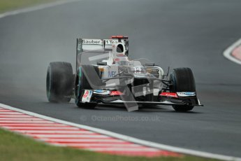 © 2012 Octane Photographic Ltd. Hungarian GP Hungaroring - Friday 27th July 2012 - F1 Practice 2. Sauber C31 - Kamui Kobayashi. Digital Ref : 0426lw1d5721