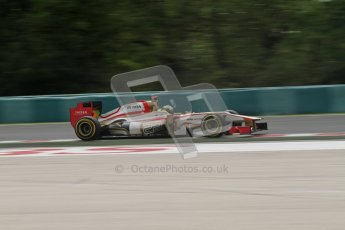 © 2012 Octane Photographic Ltd. Hungarian GP Hungaroring - Friday 27th July 2012 - F1 Practice 2. HRT F112 - Pedro de La Rosa. Digital Ref : 0426lw7d5539