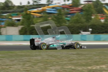 © 2012 Octane Photographic Ltd. Hungarian GP Hungaroring - Friday 27th July 2012 - F1 Practice 2. Mercedes W03 - Michael Schumacher. Digital Ref : 0426lw7d5757