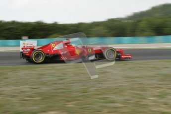 © 2012 Octane Photographic Ltd. Hungarian GP Hungaroring - Friday 27th July 2012 - F1 Practice 2. Ferrari F2012 - Fernando Alonso. Digital Ref : 0426lw7d5791