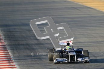 © 2012 Octane Photographic Ltd. Barcelona Winter Test 1 Day 1 - Tuesday 21st February 2012. Williams FW34 - Bruno Senna. Digital Ref : 0226lw1d6139