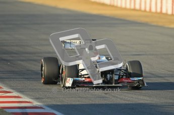 © 2012 Octane Photographic Ltd. Barcelona Winter Test 1 Day 1 - Tuesday 21st February 2012. Sauber C31 - Sergio Perez. Digital Ref : 0226lw1d6394