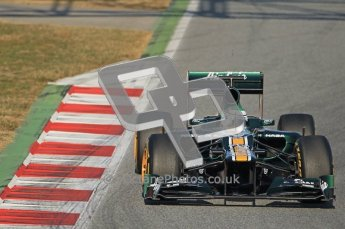 © 2012 Octane Photographic Ltd. Barcelona Winter Test 1 Day 1 - Tuesday 21st February 2012. Caterham CT01 - Heikki Kovalainen. Digital Ref : 0226lw1d6617