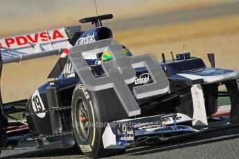© 2012 Octane Photographic Ltd. Barcelona Winter Test 1 Day 1 - Tuesday 21st February 2012. Williams FW34 - Bruno Senna. Digital Ref : 0226lw1d6904
