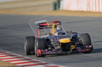 © 2012 Octane Photographic Ltd. Barcelona Winter Test 1 Day 1 - Tuesday 21st February 2012. Red Bull RB8 - Sebastian Vettel. Digital Ref : 0226lw1d7161