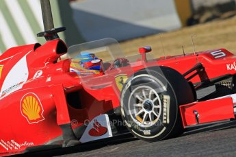 © 2012 Octane Photographic Ltd. Barcelona Winter Test 1 Day 1 - Tuesday 21st February 2012. Ferrari F2012 - Fernando Alonso. Digital Ref : 0226lw1d7198