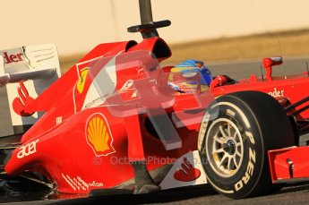 © 2012 Octane Photographic Ltd. Barcelona Winter Test 1 Day 1 - Tuesday 21st February 2012. Ferrari F2012 - Fernando Alonso. Digital Ref : 0226lw1d7253