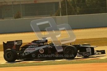 © 2012 Octane Photographic Ltd. Barcelona Winter Test 1 Day 1 - Tuesday 21st February 2012. Williams FW34 - Bruno Senna. Digital Ref :