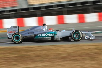 © 2012 Octane Photographic Ltd. Barcelona Winter Test 1 Day 1 - Tuesday 21st February 2012. Mercedes W03 - Michael Schumacher. Digital Ref : 0226lw7d5454