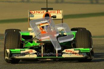 © 2012 Octane Photographic Ltd. Barcelona Winter Test 1 Day 2 - Wednesday 21st February 2012. Force India VJM05 - Nico Hulkenberg. Digital Ref : 0227lw1d7484