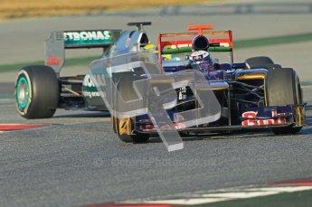 © 2012 Octane Photographic Ltd. Barcelona Winter Test 1 Day 2 - Wednesday 21st February 2012. Toro Rosso STR7 - Daniel Ricciardo. Digital Ref :  0227lw1d7518