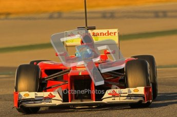 © 2012 Octane Photographic Ltd. Barcelona Winter Test 1 Day 2 - Wednesday 21st February 2012. Ferrari F2012 - Fernando Alonso. Digital Ref : 0227lw1d7550