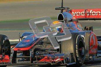 © 2012 Octane Photographic Ltd. Barcelona Winter Test 1 Day 2 - Wednesday 21st February 2012. McLaren MP4/27 - Lewis Hamilton. Digital Ref : 0227lw1d7575