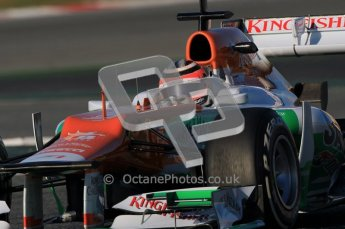 © 2012 Octane Photographic Ltd. Barcelona Winter Test 1 Day 2 - Wednesday 21st February 2012. Force India VJM05 - Nico Hulkenberg. Digital Ref : 0227lw1d7604