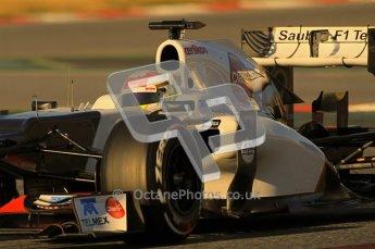 © 2012 Octane Photographic Ltd. Barcelona Winter Test 1 Day 2 - Wednesday 21st February 2012. Sauber C31 - Sergio Perez. Digital Ref : 0227lw1d7620