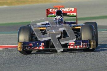 © 2012 Octane Photographic Ltd. Barcelona Winter Test 1 Day 2 - Wednesday 21st February 2012. Toro Rosso STR7 - Daniel Ricciardo. Digital Ref : 0227lw1d7687