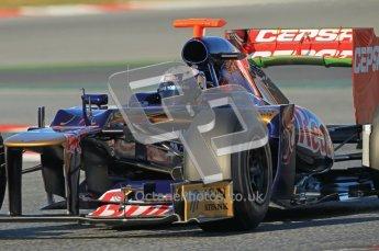 © 2012 Octane Photographic Ltd. Barcelona Winter Test 1 Day 2 - Wednesday 21st February 2012. Toro Rosso STR7 - Daniel Ricciardo. Digital Ref : 0227lw1d7690