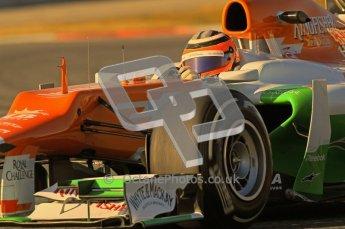 © 2012 Octane Photographic Ltd. Barcelona Winter Test 1 Day 2 - Wednesday 21st February 2012. Force India VJM05 - Nico Hulkenberg. Digital Ref : 0227lw1d7957
