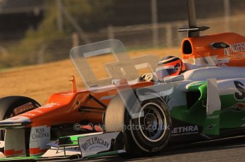 © 2012 Octane Photographic Ltd. Barcelona Winter Test1 Day 2 - Wednesday 21st February 2012. Force India VJM05 - Nico Hulkenberg. Digital Ref : 0227lw1d8291