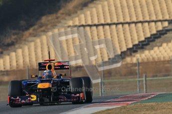© 2012 Octane Photographic Ltd. Barcelona Winter Test 1 Day 2 - Wednesday 21st February 2012. Red Bull RB8 - Sebastian Vettel. Digital Ref : 0227lw1d8336