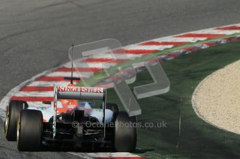 © 2012 Octane Photographic Ltd. Barcelona Winter Test 1 Day 2 - Wednesday 21st February 2012. Force India VJM05 - Nico Hulkenberg. Digital Ref : 0227lw1d8756