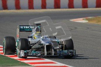 © 2012 Octane Photographic Ltd. Barcelona Winter Test 1 Day 2 - Wednesday 21st February 2012. Mercedes W03 - Nico Rosberg. Digital Ref : 0227lw1d8807