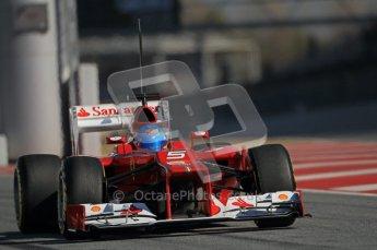 © 2012 Octane Photographic Ltd. Barcelona Winter Test 1 Day 2 - Wednesday 21st February 2012. Ferrari F2012 - Fernando Alonso. Digital Ref : 0227lw1d9079