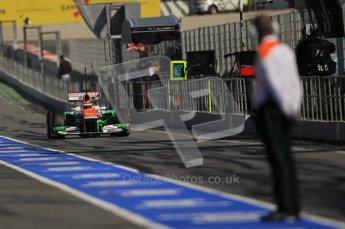 © 2012 Octane Photographic Ltd. Barcelona Winter Test 1 Day 2 - Wednesday 21st February 2012. Force India VJM05 - Nico Hulkenberg. Digital Ref : 0227lw1d9303