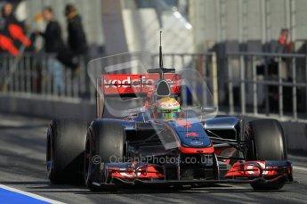 © 2012 Octane Photographic Ltd. Barcelona Winter Test 1 Day 2 - Wednesday 21st February 2012. McLaren MP4/27 - Lewis Hamilton. Digital Ref : 0227lw1d9357