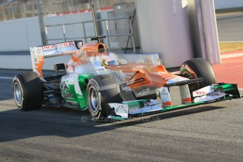 © 2012 Octane Photographic Ltd. Barcelona Winter Test 1 Day 3 - Thursday 23rd February 2012. Force India VJM05 - Paul di Resta. Digital Ref : 0228cb1d9510