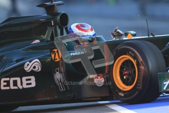 © 2012 Octane Photographic Ltd. Barcelona Winter Test 1 Day 3 - Thursday 23rd February 2012. Caterham CT01 - Vitaly Petrov. Digital Ref : 0228cb7d6425