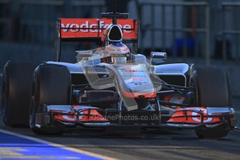 © 2012 Octane Photographic Ltd. Barcelona Winter Test 1 Day 3 - Thursday 23rd February 2012. McLaren MP4/27 - Jenson Button. Digital Ref : 0228cb7d6443