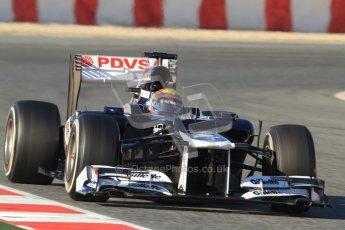© 2012 Octane Photographic Ltd. Barcelona Winter Test 1 Day 3 - Thursday 23rd February 2012. Williams FW34 - Pastor Maldonado. Digital Ref : 0228cb7d6531