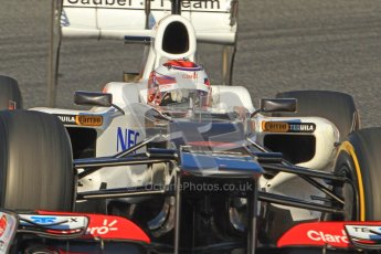 © 2012 Octane Photographic Ltd. Barcelona Winter Test 1 Day 3 - Thursday 23rd February 2012. Sauber C31 - Kamui Kobayashi. Digital Ref : 0228cb7d6583