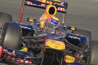 © 2012 Octane Photographic Ltd. Barcelona Winter Test 1 Day 3 - Thursday 23rd February 2012. Red Bull RB8 - Mark Webber. Digital Ref : 0228cb7d6593