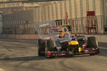 © 2012 Octane Photographic Ltd. Barcelona Winter Test 1 Day 3 - Thursday 23rd February 2012. Red Bull RB8 - Mark Webber. Digital Ref : 0228lw7d3067