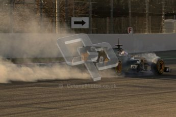 © 2012 Octane Photographic Ltd. Barcelona Winter Test 1 Day 3 - Thursday 23rd February 2012. Caterham CT01 - Vitaly Petrov. Digital Ref : 0228lw7d3100
