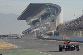 © 2012 Octane Photographic Ltd. Barcelona Winter Test 1 Day 3 - Thursday 23rd February 2012. Toro Rosso STR7 - Jean-Eric Vergne. Digital Ref : 0228lw7d3236