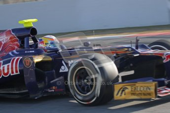 © 2012 Octane Photographic Ltd. Barcelona Winter Test 1 Day 3 - Thursday 23rd February 2012. Toro Rosso STR7 - Jean-Eric Vergne. Digital Ref : 0228lw7d3242