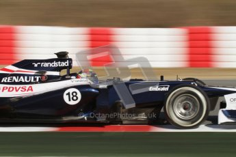 © 2012 Octane Photographic Ltd. Barcelona Winter Test 1 Day 3 - Thursday 23rd February 2012. Williams FW34 - Pastor Maldonado. Digital Ref : 0228lw7d3362